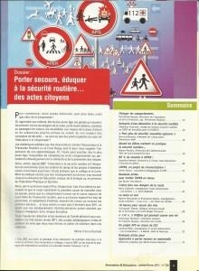 AE220 - Porter secours, éduquer à la sécurité routière... des actes citoyens - N°220 Janvier-Février 2011 - Sommaire
