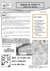 Bulletin octobe 2009