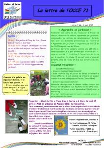 OCCE71 lettre n°44 - 6 Avril 2013 - Apprendre en jardinant