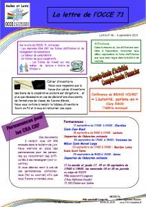 Lettre n°46 - 06 Septembre 2013 - CRA CRF