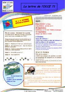 Lettre n°47 - 09 Septembre 2013 - Fête de la science 2013