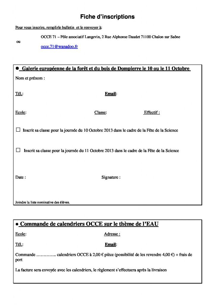 Lettre n°47 - 09 Septembre 2013 - Inscriptions fête de la science 2013
