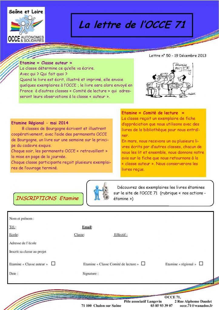 Lettre n°50 - 19 Decembre 2013 - Etamine-page-002