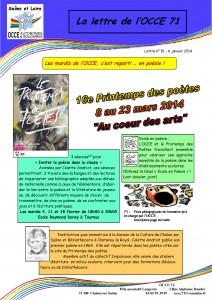 Lettre n°51 - 06 Janvier 2014 - Inviter la poésie dans la classe - page 1