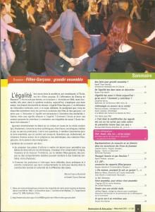 AE221 - Filles-Garçons, grandir ensemble - N°221 Mars-Avril 2011 - Sommaire