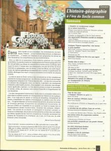 AE226 - L'histoire géographie à l'ère du Socle commun - N°226 Janvier-Février 2012 - Sommaire
