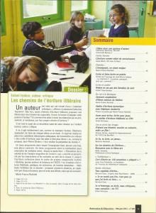 AE228 - Enfant lecteur, auteur, critique, Les chemins de l'écriture littéraire - N°228 Mais-juin 2012 - Sommaire