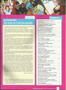 AE231 - La maternelle, une école où il fais bon grandir - N° 231 - Novembre-Décembre 2012 - Sommaire