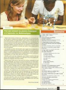 AE233 - Pour que naissent les plaisirs d'enseigner et d'apprendre les mathématiques - N°233 Mars-Avril 2013 - Sommaire