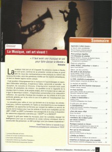 AE237 - La musique, cet art vivant - N°237 Novembre-Décembre 2013 - Sommaire