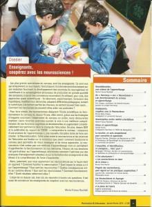 AE238 - Enseignants, coopérez avec les neurosciences - N°238 Janvier-Février 2014 - Sommaire