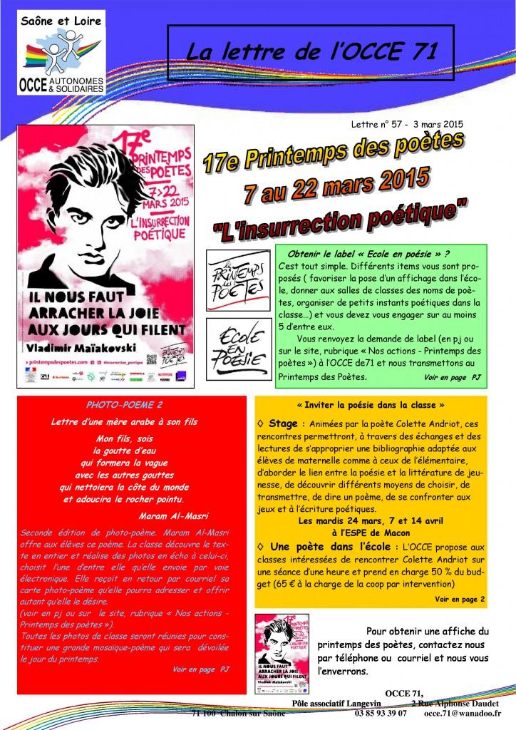 lettre n°57 - 3 Mars 2015 - Printemps des poètes - 01
