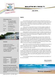 Bulletin Juin 2016