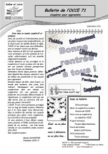 Bulletin septembre 2011