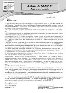 bulletin septembre 2012