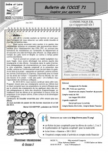 Bulletin Juin 2012