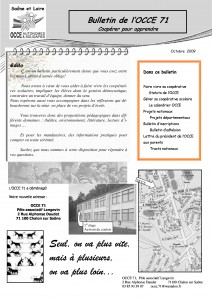 Bulletin octobe 2009