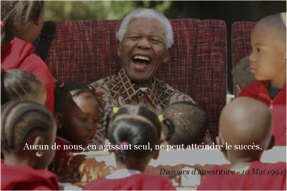 Aucun d'entre nous, en agissant seul, ne peut atteindre le succès - Nelson Mandela