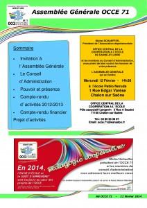 Bulletin Assemblée Générale 2014