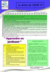 lettre n°60 - 25 Mars 2015 - Apprendre en jardinant-01